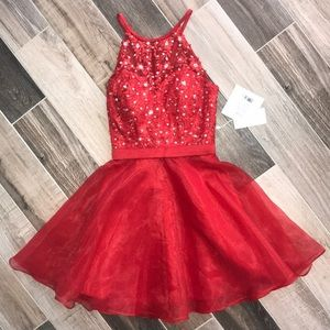 Beautiful BNWT Cherry Red Custom Dress hoco/prom!